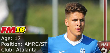 FM 2016 player profile of Tiziano Tulissi