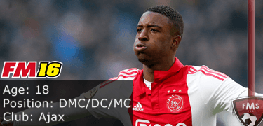 FM16 player profile, Riechedly Bazoer, image
