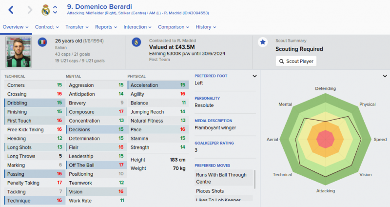 domenico berardi fm 2016 future profile