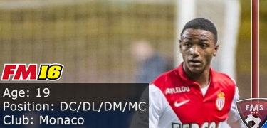FM 2016 Player Profile of Abdou Diallo