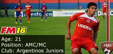 FM 2016 Player Profile of Luciano Cabral