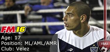 FM 2016 Player Profile of Nicolas Delgadillo