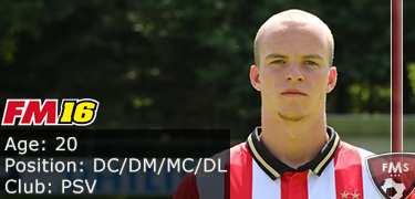 FM 2016 player profile of Jorrit Hendrix