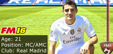 FM 2016 player profile of Mateo Kovacic