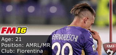 FM16 player profile, Federico Bernardeschi, image