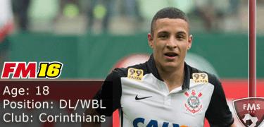 FM16 player profile, Guilherme Arana, image