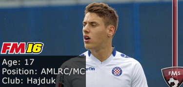 FM16 player profile, Nikola Vlasic, image
