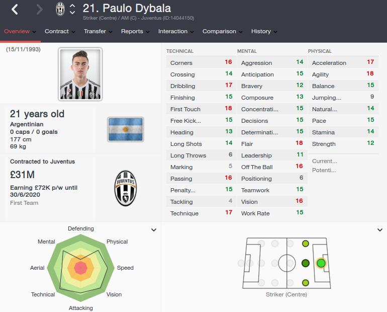 paulo dybala patch 16.3