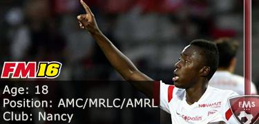 FM 2016 Player Profile of Arnaud Lusamba