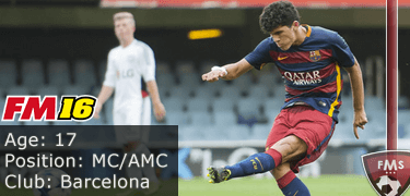 FM16 player profile, Carles Alena, image