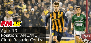 FM16 player profile, Giovani Lo Celso, image