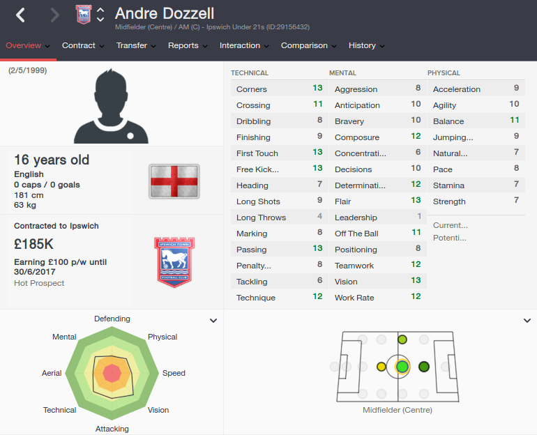 andre dozzell patch 16.3