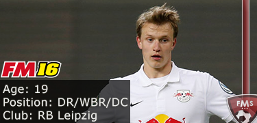 FM 2016 Player Profile of Lukas Klostermann