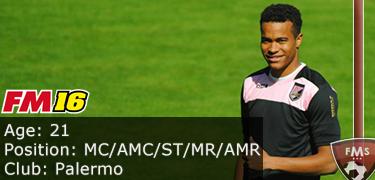 FM 2016 Player Profile of Rodrigo Quaison