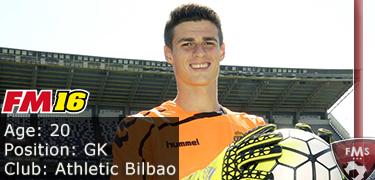FM 2016 player profile of Kepa Arrizabalaga