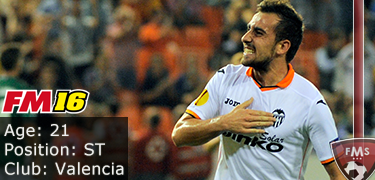 FM 2016 player profile of Paco Alcacer
