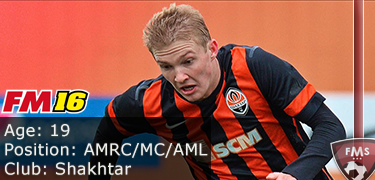 FM 2016 player profile of Victor Kovalenko
