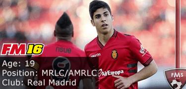 FM16 player profile, Marco Asensio, image