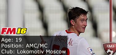 FM 2016 Player Profile of Alexey Miranchuk